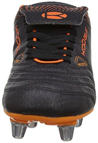 Kooga Kp 5000 Lcst, Chaussures de Rugby Mixte Enfant Noir (Black/Orange)