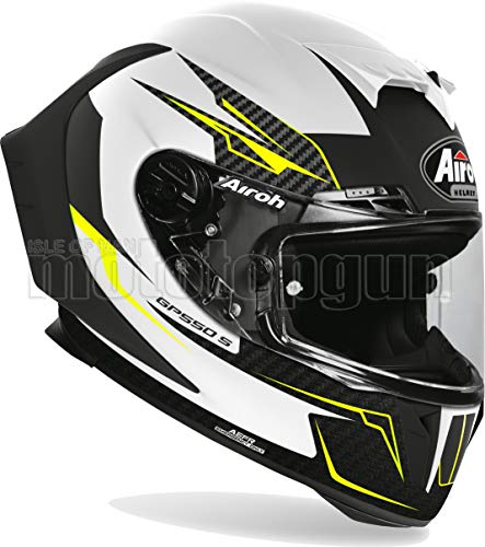AIROH GP55V38 CASCO MOTO INTEGRALE BLANCO MATT GP550-S