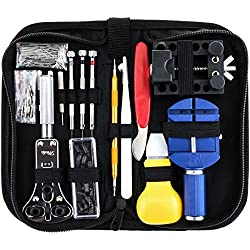 Watch Repair Tools, GOCHANGE 146 PCS Portable Watch Opener Tool Kit/ Watchmaker Tool Kit/ Watchcase Opener Adjuster Remover/ Watch Spring Pin Screwdrivers Kit