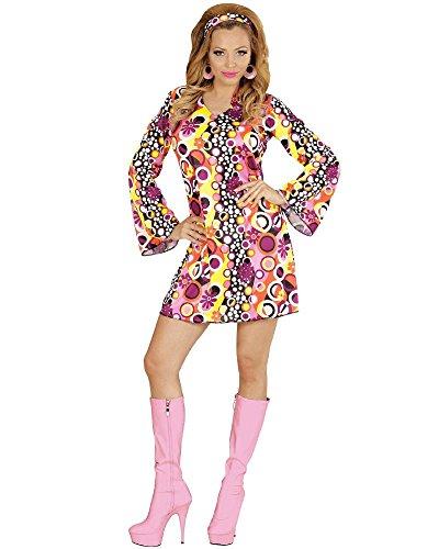 Widmann wid67671-Kostüm für Erwachsene Groovy Girl, mehrfarbig, S (Groovy 70er Jahre Girl Kostüm)