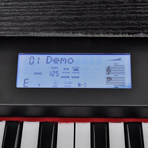 vidaXL Klassische Elektro 88-Tasten Digital Piano E-Piano Keyboard Klavier Notenablage - 7