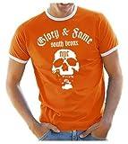 GLORY & FAME - NYC - SHIRT T-SHIRT - south bronx RINGER T-SHIRT orange Gr.XL