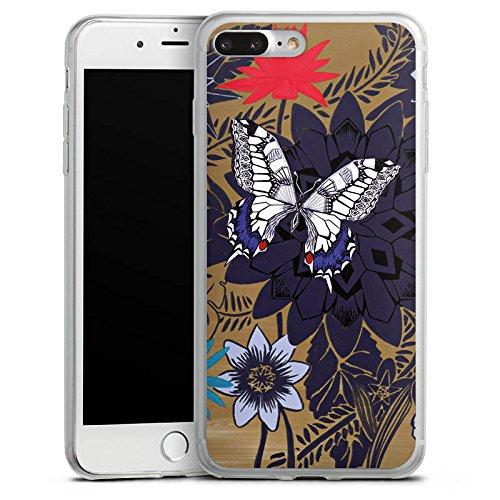 Apple iPhone X Slim Case Silikon Hülle Schutzhülle Schmetterling Blumen Pflanzen Silikon Slim Case transparent