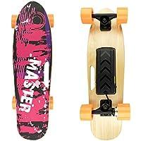527354 Skateboard eléctrico 70cm MASTER con mando inalámbrico wireless 15 km/h - Fucsia