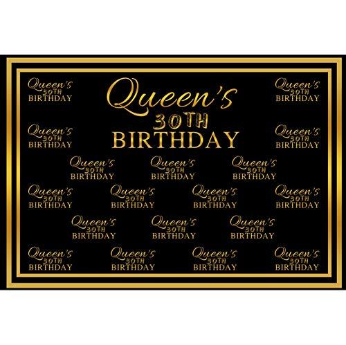 tag Hintergrund Fotografie 30 Geburtstag der Königin Goldrahmen Tapete Erwachsene Ältere Party Poster Porträt Kundengebundener Hintergrund Requisiten ()