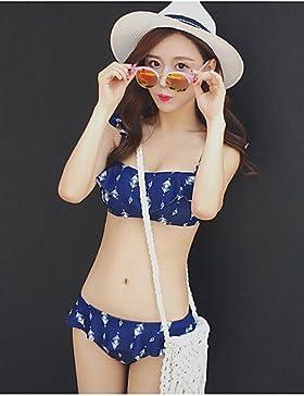 WSJ Bikini Con lacci A fascia Poliestere , royal blue , l