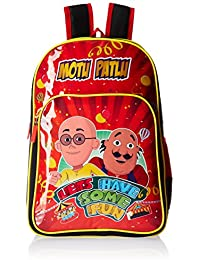 Motu Patlu Red and Black Children's Backpack (Age group :8-12 yrs)