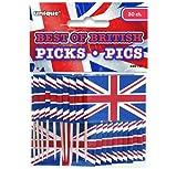 30 Pickser * British Union Jack * Fähnen mit Holzpickser//Flag Party Geburtstag Feier Fete Deko Motto Mottoparty Fahne England Großbritannien UK GB