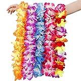 Flores Hawaianas Guirnalda Hawaiana Collar Coloridos Reutilizables de Fuentes de La Decoración para Fiesta Hawaiana 5 Piezas