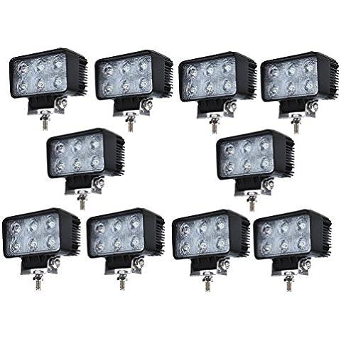 10 X 18W Led riflettori del LED 60 ¡ã Lampada i fari luce lavoro leggero Offroad Truck Jeep Auto Barca Mining ATV SUV 4WD#a610