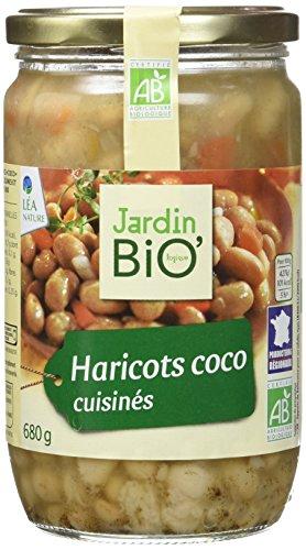 Jardin Bio Haricots Coco Cuisinés 680 g - Lot de 3