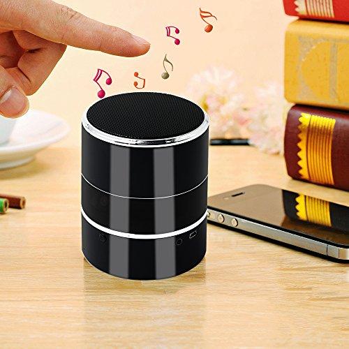 Spy Cam, HD Mini Telecamera Nascosta Spia WIFI Bluetooth Speaker TANGMI Microcamera Nanny 1080P 180° Pan Rotation Obiettivo della Fotocamera Sorveglianza di Sicurezza Domestica - 5