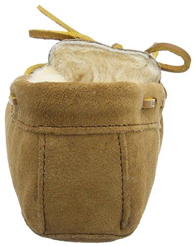 Minnetonka Sheepskin Softsole Moc Damen Flache Hausschuhe Beige (Golden Tan)