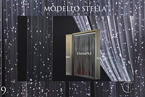 NovitÀ 2017 tenda/moschiera pvc – modello stella - made in italy – asta in alluminio - (80x200-90x200-95x200-100x220-120x230-130x240) (100x220, glitter argento n.9)
