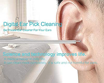 Ear Cleaning Endoscope,Digital Visible Ear Wax Remover Tool Stainless Steel Spoon Safe Healthy Cleaning Ear Care