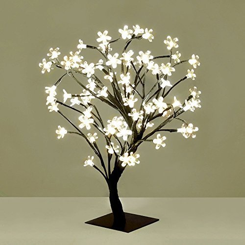 ANSIO Cherry Blossom Tree Lamp 72 LED Warm White Battery Operated Christmas Lights Fairy Lights 45cm Height amp; 3m Lead Wire Bonsai Style. Perfect Gift for this Christmas