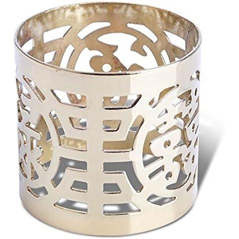 YMJ fuente creativa para la flor decorativos anillos de servilleta servilleta anillo hebilla Occidental,color oro