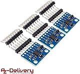 AZDelivery 3 x GY-521 MPU-6050 3-Achsen-Gyroskop und Beschleunigungssensor für Arduino inklusive eBook