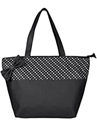 Osaiz Black & White Colored PU Leather Shoulder And Hand Bag For Women , Girls And Ladies For Every Style & Occasion .