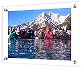 Boxalls - Cornice trasparente da 20,3 cm per fotografie/supporto per cornice per foto Moderno A4 trasparente