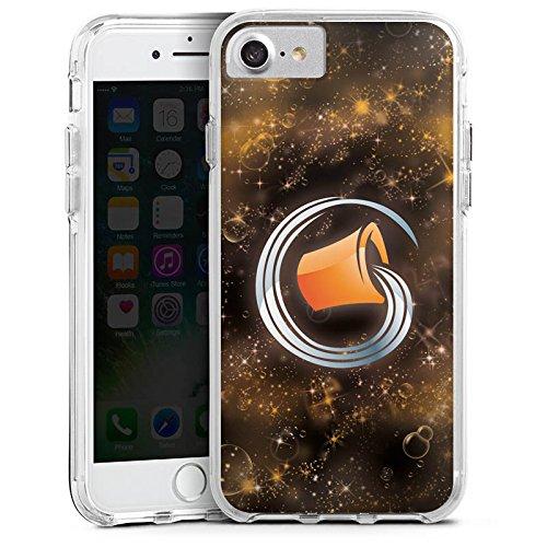Apple iPhone 7 Bumper Hülle Bumper Case Glitzer Hülle Sternzeichen Wassermann Astrologie Bumper Case transparent