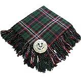 Tartanista - Fly plaid pour kilt - broche motif chardon - Scottish National