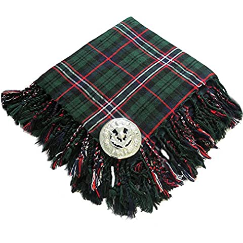 Tartanista - Fly plaid pour kilt - broche motif chardon - Scottish National