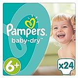 Pampers Baby Dry Windeln, Gr. 6+ (ab 16 kg), bis zu 12 Stunden Trockenheit, 1er Pack (1 x 24 Stück)