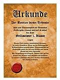 witzige Schürze - Bierbauch - bedruckte Schürze mit Urkunde als Geschenk für Bier Liebhaber und Männer -
