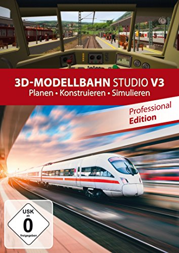 3D Modellbahn Studio V3 - Planen - Simulation - Konstruieren für Windows 10 / 8.1 / 8 / 7 / Vista
