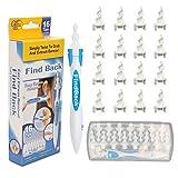 Pulizia Orecchie, Detergente per le orecchie rotante, Strumento per la rimozione del cerume, 16 Teste in Silicone Sostituibili, sicuro e morbido, adatto a bambini e adulti