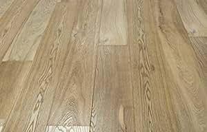 Pavimento in legno Rovere verniciato spazzolato naturale, plancia unica 3 strati 15/4x190x930/1860
