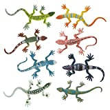 Toy lizards. 8 per package. Each approx. 2.5 . Assorted colors. Plastic.