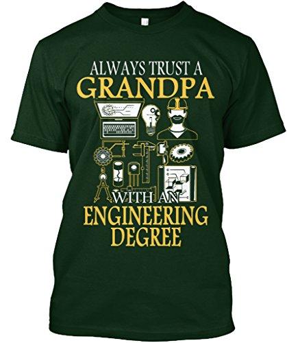 Engineering Lustig Geschenke (Stylisches T-Shirt Damen / Herren / Unisex von Teespring | Originelles Outfit für jeden Anlass und lustige Geschenksidee - Limited - Trust Engineering Grandpa UK)