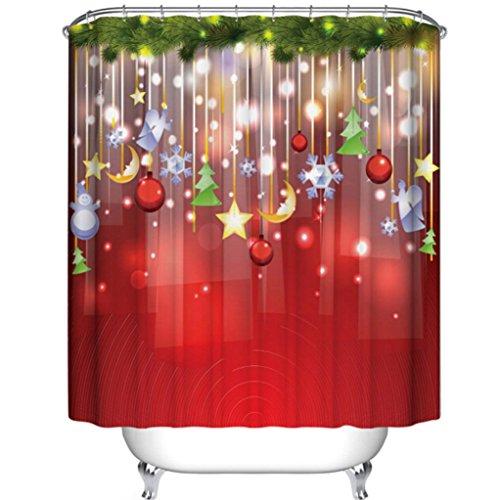 Hunpta Benutzerdefinierte Frohe Weihnachten Stoff wasserdicht Badezimmerdusche Vorhang 66