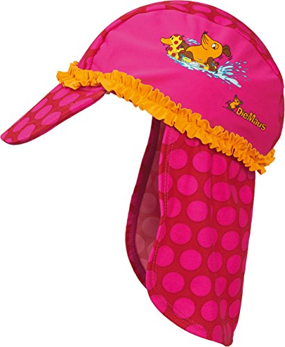 Playshoes Girl's UV Sun Protection Swim Cap, Sun Hat Mouse