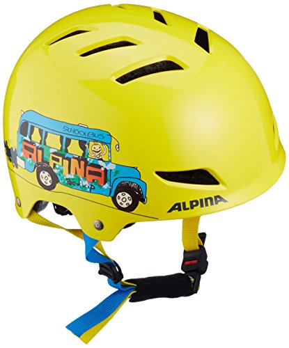 Alpina Kinder Fahrradhelm Park Junior, Yellow Schoolbus, 51-55 cm, 9680141