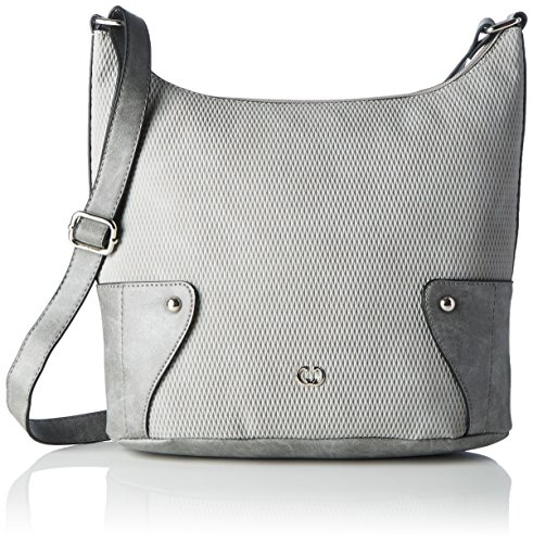 Gerry Weber Damen Somersault Shoulderbag Lvz Schultertasche, Grau (Light Grey), 12x34x30 cm
