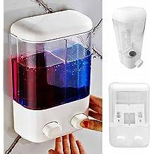 GEZICHTA Dispensador de Jabón de Pared de plástico, para Baño y Ducha, dispensador de