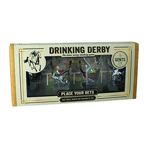Sets Retro Gläser Trinken (Flashpoint 556143 Derby Trinkspiel (4 Gläser))