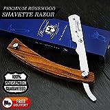 Pliable fin Barber droit Razor/Straight Cut Throat Razor Dans le Bois (pas Lames) pour les hommes vient avec une Designer Box
