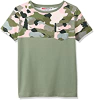 RED WAGON Boy's Camo Warning T-Shirt, Green (Khaki), 10 Years