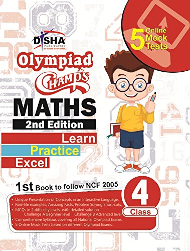 Olympiad Champs Mathematics Class 4 with 5 Online Mock Tests