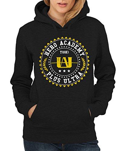 Girls Hoodie Dc (-- Hero Academy -- Girls Kapuzenpullover Schwarz, Größe S)