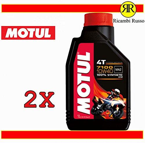 Motul 7100 10w40 olio motore moto 4 tempi litri 2
