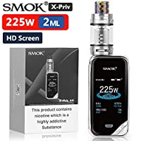 "Official SMOK X-Priv 225W Vape Kit, TFV12 Prince, 2"" HD Screen Temp Control E Cigarettes, Uses Replaceable 2X 18650 Batteries, TPD Compliant 2ml Tank, Massive Vapor Ecig No Nicotine - Prism-Blue 25"