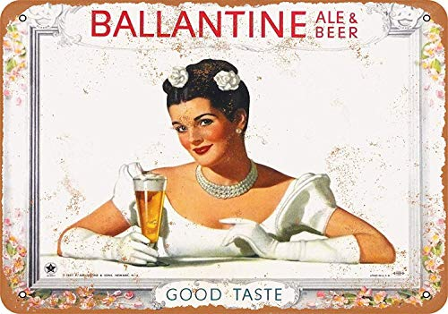 Ballantine Ale & Beer Blechschilder Dekoration Retro Vintage Metall Stil Retro Poster Cafe Bar Movie Gift Bathrooms Garages