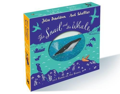 The Snail and the Whale and Room on the Broom board book gift slipcase