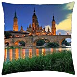 Basilica Cathedral - Spain - Throw Pillow Cover Case (18