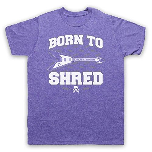 Born To Shred Guitar Love Slogan Herren T-Shirt Jahrgang Violett